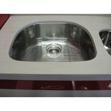 "22.75"" x 20.5"" Single Bowl Undermount Kitchen Sink"