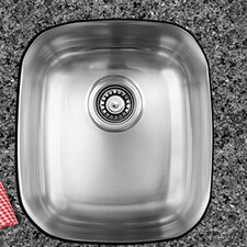 "17"" x 14.75"" Single Bowl Undermount Kitchen Sink"