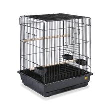 Square Roof Parrot Cage in Black