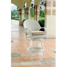 "Bahia 24"" Wicker Barstool"