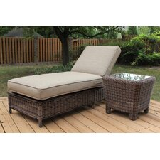 Del Ray Wicker Chaise Louge