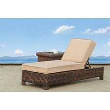 Saint Tropez Wicker Chaise Lounge