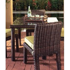Saint Tropez Wicker Square Dining Table