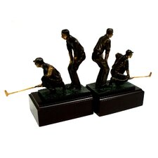 Double Golfers Bookend