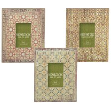 Mediterranean Tile Picture Frame (Set of 3)