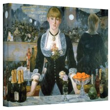 Edouard Manet ''A Bar at the Fol'' Canvas Art