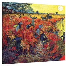 Vincent Van Gogh ''Red Vineyard at Arles'' Canvas Art