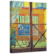 Vincent Van Gogh ''Pork-Butcher's Shop Through the Window'' Canvas Art
