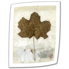 Elena Ray 'Golden Leaf' Unwrapped Canvas Wall Art
