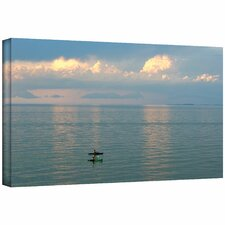 David Liam Kyle 'Calm Kayaks' Gallery-Wrapped Canvas Wall Art