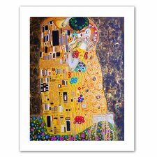 Susi Franco 'My Klimt Kiss' Unwrapped Canvas Wall Art