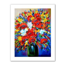 Susi Franco 'Happy Foral' Unwrapped Canvas Wall Art