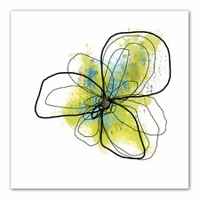 Jan Weiss 'Citron Petals II' Unwrapped Canvas Wall Art