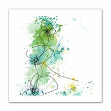Jan Weiss 'Green Botanica' Unwrapped Canvas Wall Art