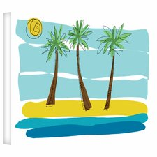 Jan Weiss 'Beach Day Palms I' Gallery-Wrapped Canvas Wall Art