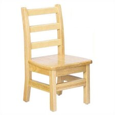 "KYDZ 10"" Wood Classroom Ladderback Chair"