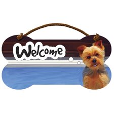 Yorkie Welcome Wall Sign