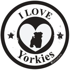 Yorkie Circle Car Magnet