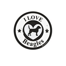Beagle Circle Car Magnet