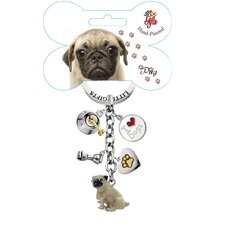 Pug Enamel Key Chain
