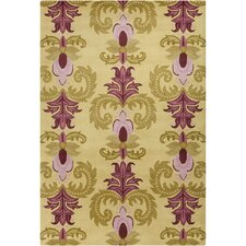 Cinzia Light Olive Green Floral Rug