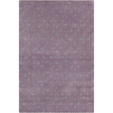 Cinzia Purple Geometric Rug