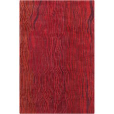Cinzia Red Abstract Rug