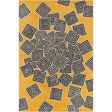 Cinzia Yellow Geometric Rug