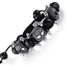 The Ultimate Cross Bones Shamballa Bracelet