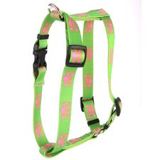 Green and Pink Skulls Step-In Harness