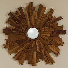 Industrial Wooden Mirror