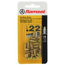 25 Count Yellow .22 Caliber Single Shot Powder Loads