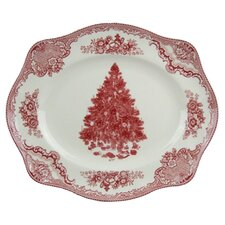 Old Britain Castles Christmas Oval Platter