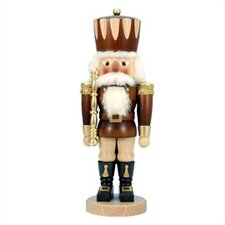 Tall Natural Wood Finish Prince Nutcracker