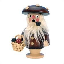 Natural Wood Mushroom Man Incense Burner