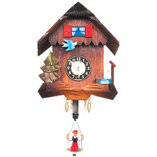 Carved Chalet Clock