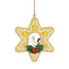 Christian Ulbricht Star Shaped Gingerbread Cookie Ornament with Horse