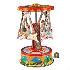 Tin Dog and Carousel Toy