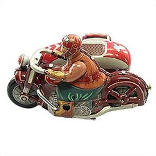 Tin Motorcycle with Sidecar Toy
