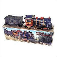 Tin Locomotive and Car Toy