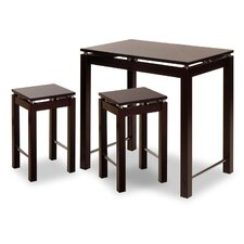 Linea 3 Piece Dining Set