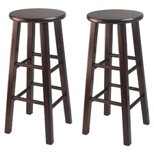 Square Leg Bar Stool Set (Set of 2)