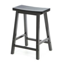"Saddle Seat 24"" Counter Stool in Black"