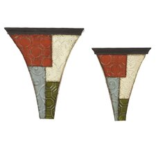 Patchwork Wall Shelves (Set of 2)