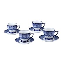 Tile Teacup and Saucer (Set of 4)