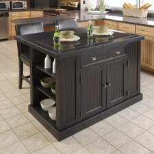 Nantucket Kitchen Island Set with Granite Top
