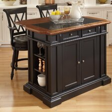 Deluxe Traditions Kitchen Island with Granite Top