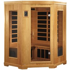 """Grand"" 2-3 Person Corner Carbon Sauna"