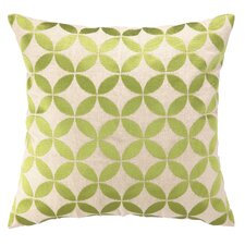 Circle Embroidered Decorative Pillow