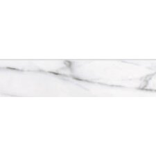 "Carrara Extra High Definition 12"" x 3"" Porcelain Bullnose Matte Tile in White"
